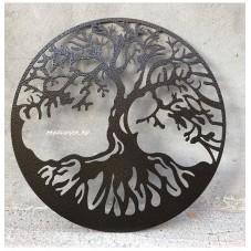 Картина из металла ,сталь 1.5 мм.,эффект объема,диаметр 600 мм.,цвет по согласованию. Прекрасный подарок к любому празднику!!!