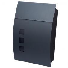 Почтовый ящик *Стиль-3* металл сталь , цвет ЧЕРНЫЙ, 310 / 100 / 450 мм ,вес 2.5 кг..