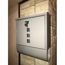 Почтовый ящик *Модерн* металл сталь , цвет серый жемчуг , 340 / 300 / 90 мм ,вес 1.8 кг.. подарочная упаковка