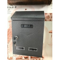 Пяс-3.  Почтовый ящик металл сталь  , цвет серебро , 360 / 240 / 90 мм., вес 1.7 кг., подарочная упаковка