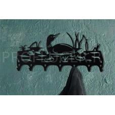 """Вешалка-ключница """"УТКА"""" , металл сталь 1.5 мм , 565/240 мм., цвет по согласованию"""