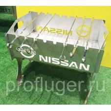 Мангал Nissan (складной) , толщина 2 мм .