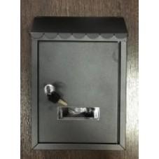 Пям-2.  Почтовый ящик для писем металл  сталь мини черный ,  300 / 210 / 65 мм., подарочная упаковка