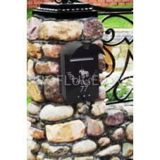 Пя-01.  Почтовый ящик с автономной подсветкой , металл , 460*310*90 мм. , вес 2.5 кг. , цвет черный , бронза , медь, серебряный с черным.