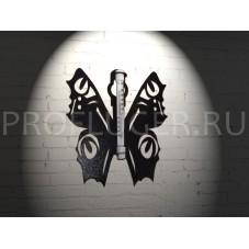 """Градусник  """"БАБОЧКА"""" декоративный  , высота 300 мм., сталь 1.5 мм., цвет черный"""